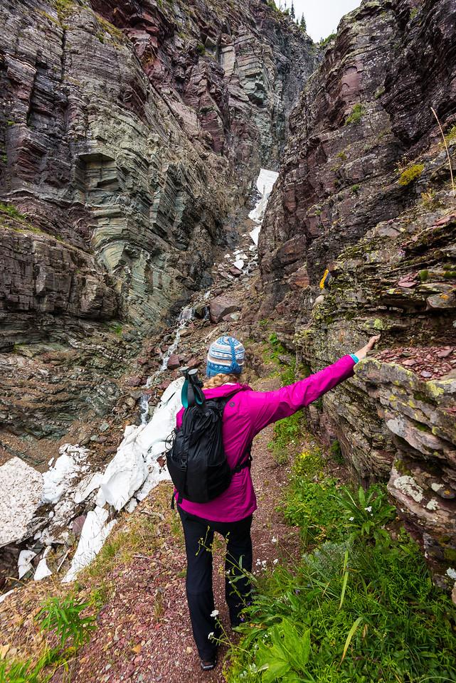 Tara on the initial climb
