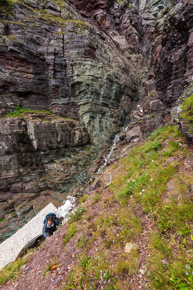 Jim climbing up