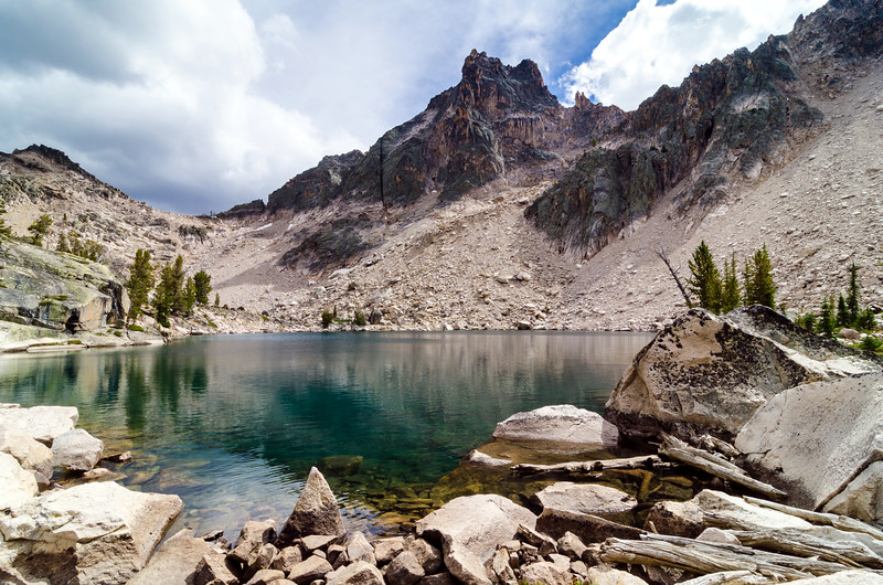 Warbonnet Lake and Packrat Peak