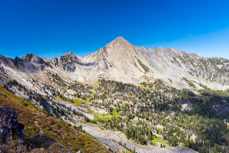 One last look at Gallatin Peak from near the saddle back into Bear Basin
