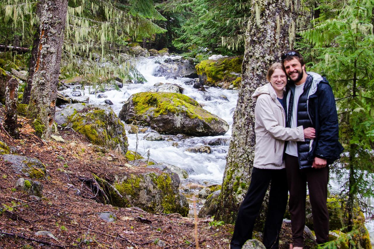 Tara and I on the bank of Huckleberry Creek