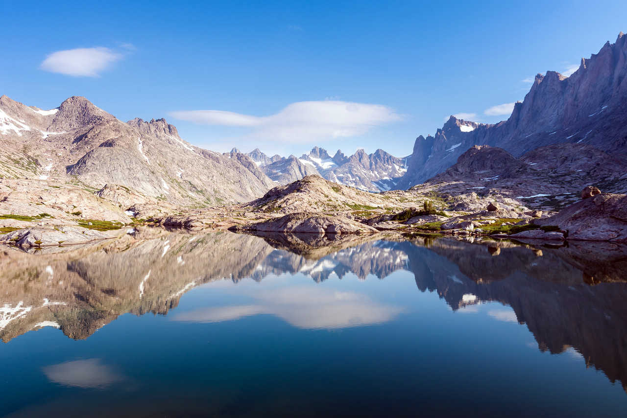 Morning at Titcomb Basin