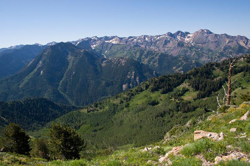 Kessler Peak, and the LCC ridge.