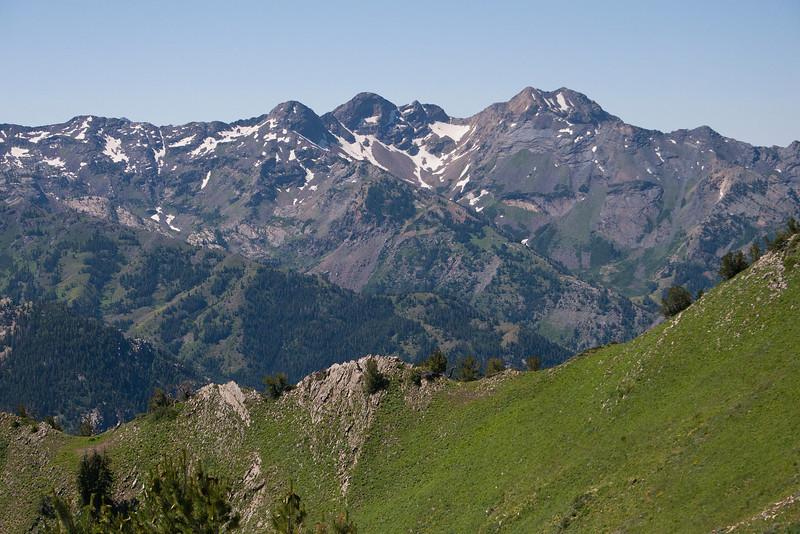 Telephoto of Twin Peaks & The Triple Traverse,