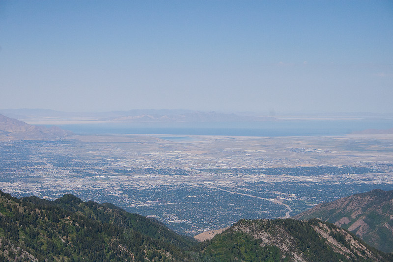 View from the peak, of Salt L:ake City and the lake, picture hardly touches how incredible<br /> this view really was.