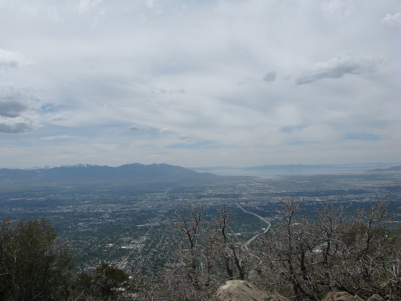 The Great Salt Lake, from Grandeur Peak, Millcreek Canyon...