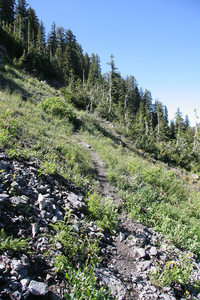 Crossing Gods Lawnmower at about 9200 ft. Now it gets really steep.