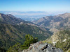 Looking down the canyon to Salt Lake City.