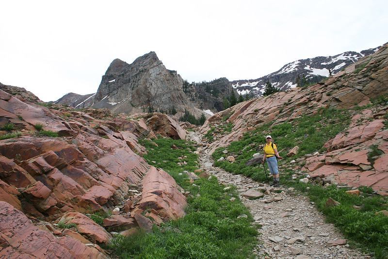 Approach to the first, Lake Blanche..