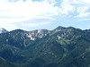 From peak toward Big Cottonwood Canyon ridgeline...