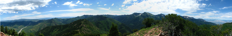 17 Shot panoramic collage, from Mt. Aire summit looking South.
