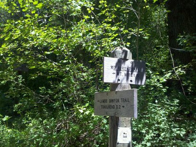 Second sign, 2 tenths up, junction with Lambs Canyon Trail, havn't done Lambs,,, YET