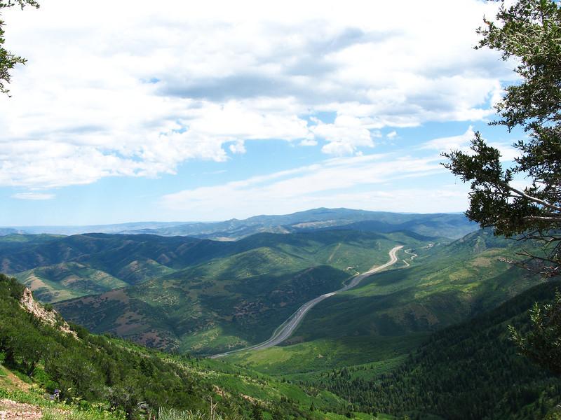 Peak overlook  toward Parley's.