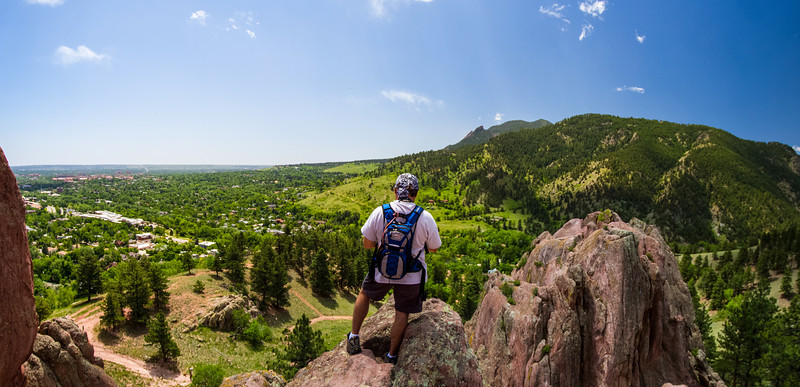 Panorama photo of Boulder