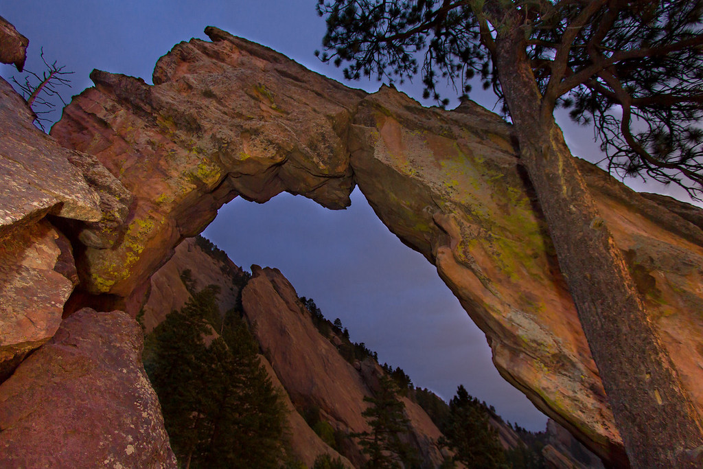 Light Painted photo of Royal Arch - Boulder, CO