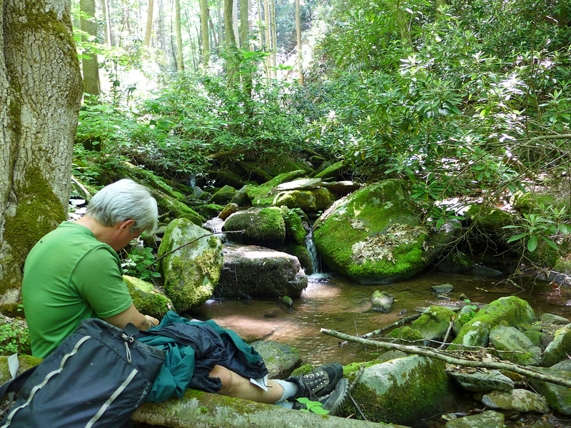 Andy, along Rube Rock Creek