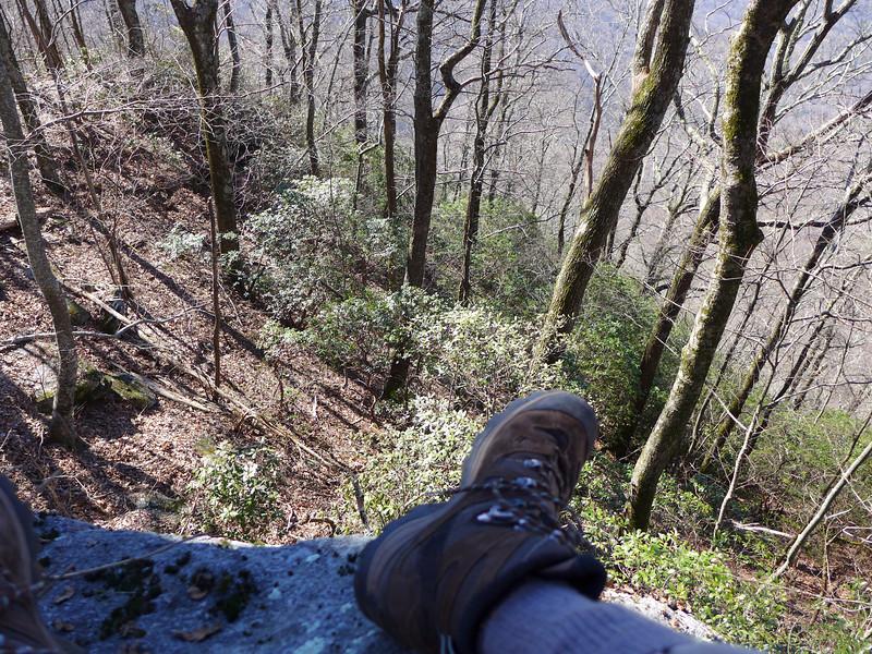 The southwest surface of Little Sassafras Peak is definitely STRAIGHT down!