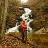 Bernie, at the waterfall on Bad Creek