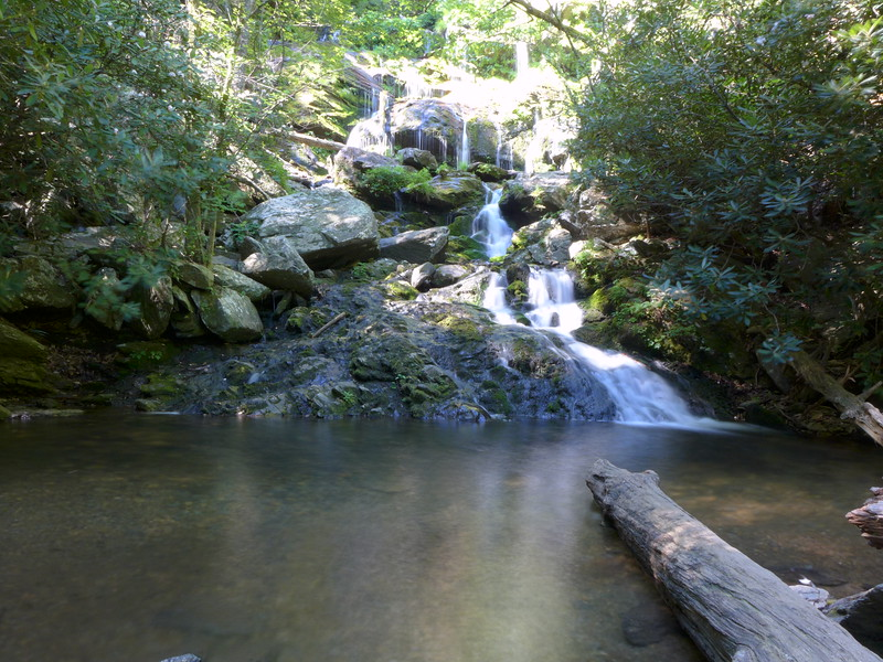 Base of Lower Catawba Falls