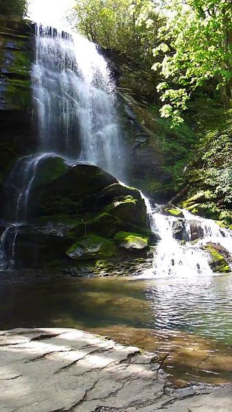 18 second video of Upper Catawba Falls.