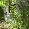 Old concrete wall along the first part of the trail