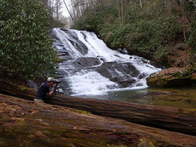 <h1>Van</h1>...at the base of Catheys Creek Falls.