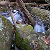 "As the water comes down the very wide cascade the forms Catheys Creek Falls, the creek then narrows down to a very narrow rocky chute, which all the water gets squeezed into.   There was still a lot of ice from last week's cold temps.     Jack has <b><u><a href=""http://www.flickr.com/photos/8146392@N05/12312048976/in/set-72157640504282406/"" target=""_blank"">a great shot of the water exiting this chute</a></u></b> ... I was unable to navigate the icy rocks to get down to creek level!!"
