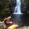 So, that swimming hole looked so inviting, but I never got beyond waist deep, it was so cold!!<br /> <br /> Photo by John.