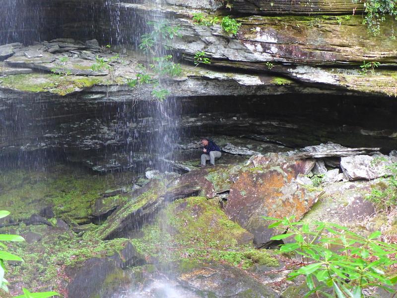Mark, behind Rhapsodie Falls