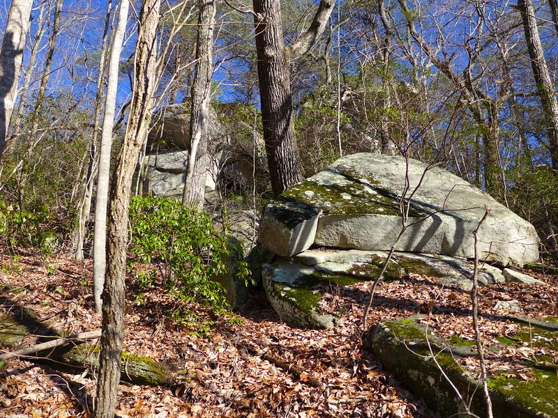Big boulders along the trail