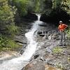Brenda at Cleft Falls