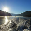 Gorgeous morning as we headed across the lake to the trailhead