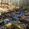 Mark, crossing Little East Fork Creek