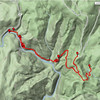 """<h1>Map</h1>...of the hike shown in this gallery.   See <u><b><a href=""""http://www.brendajwiley.com/gps/rainbow_falls.html"""" target=""""_blank"""">this webpage for an interactive map</a></b></u>."""