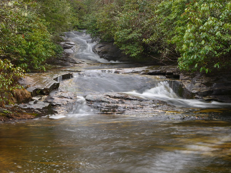 Just upstream from Greenland Creek Falls