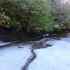 Ice and water along Carlton Falls