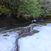 Ice and water along the upper portion of Carlton Falls