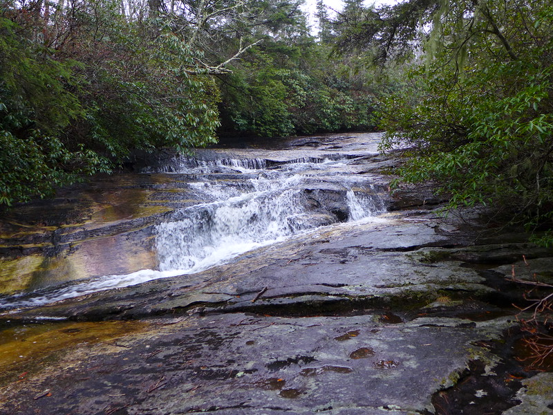 Just upstream from the top of Greenland Creek Falls