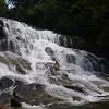Kyle Slides down Rich's Falls