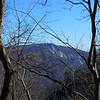 <h1>Zoomed in shot of Caesar's Head</h1>...from Naturaland Trust Trail.