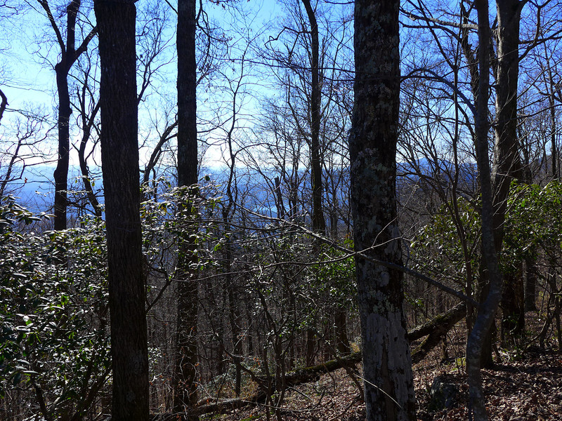 <h1>Another view of the Table Rock area</h1>...from Raven Cliff ridgeline.