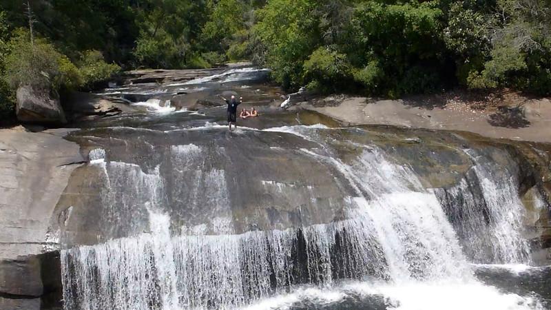 Sliding down Turtleback Falls
