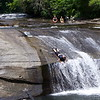 ....head down the waterfall head first!!