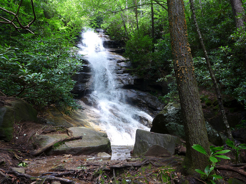 """<h1>First Look</h1> ... at the Jones Gap Waterfall.     For comparison of how much more water volume there is from normal, <b><u><a href=""""http://www.flickr.com/photos/nc_hiker/9304299536/"""" target=""""_blank"""">look at this photo from my 2009 visit</a></u></b>."""