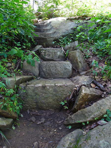<h1>Rock Steps along Trail up to Rainbow Falls</h1>