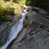 Dave, making his way upstream along the chute.