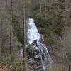 <h1>Laurel Fork Falls</h1>...as seen from the overlook along Foothills Trail.