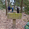 <h1>Sign</h1>....that is along the Foothills Trail.  These falls used to be called Double Falls.