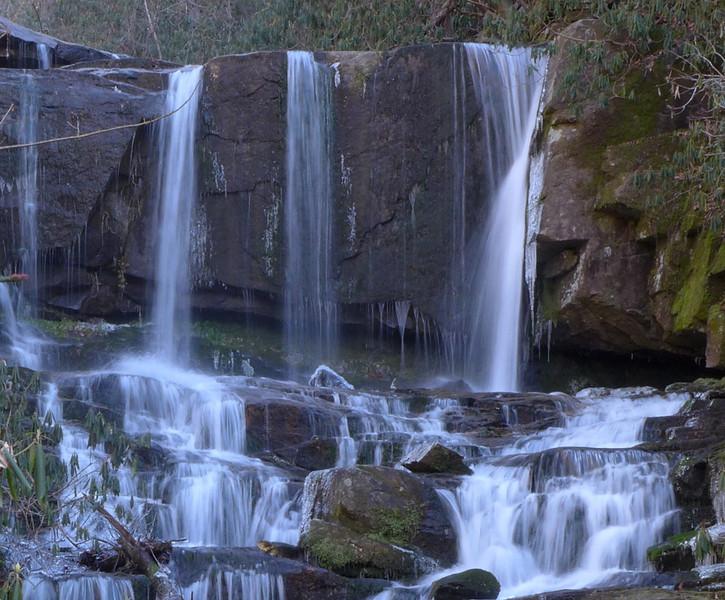 <h1>Zoomed in shot</h1>...of Virginia Hawkins Falls.