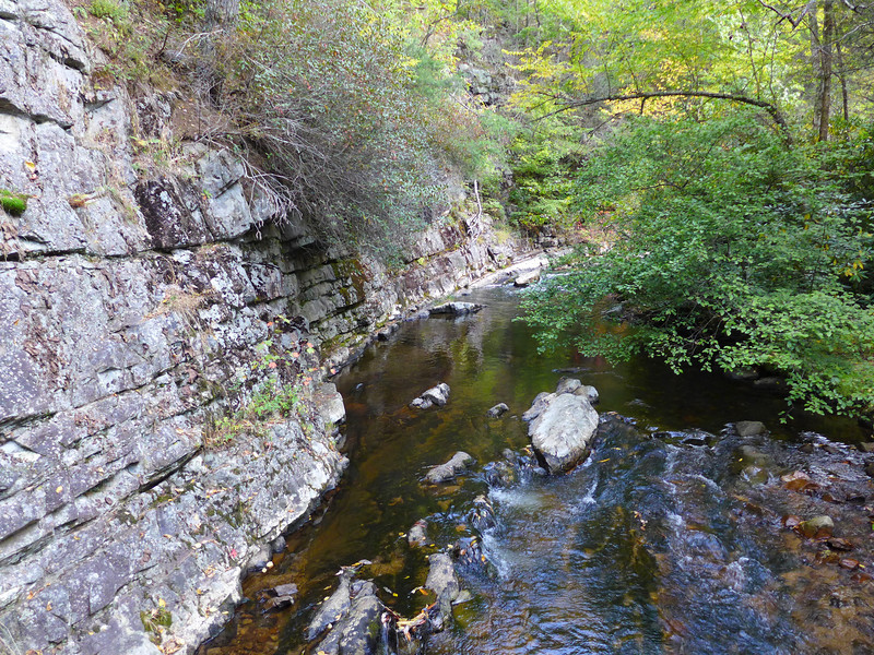 Part of the rocky gorge that this gorgeous creek wends its way through.  This is upstream from Laurel Falls.